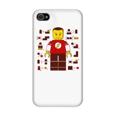 Чехол для iPhone 4/4s Лего Шелдон