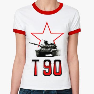 Женская футболка Ringer-T Танк Т-90