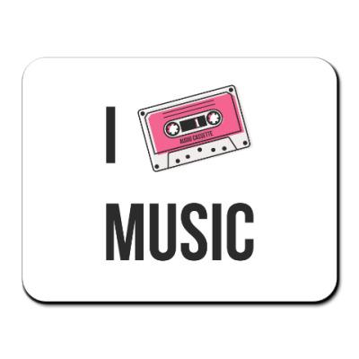 Коврик для мыши I Love Music