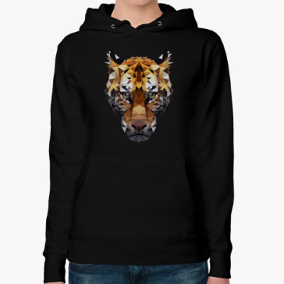 Женская толстовка худи Тигр / Tiger