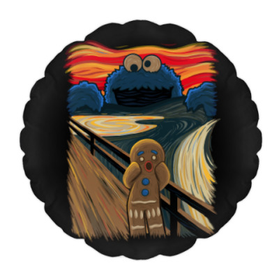 Подушка Cookie Monster The Scream