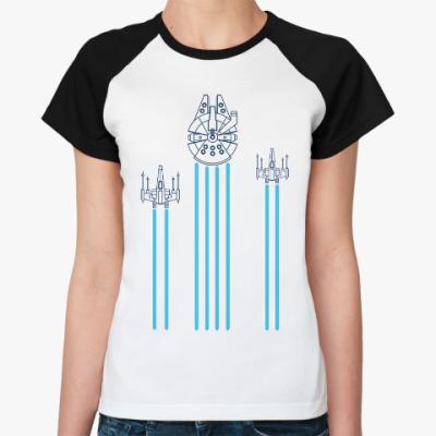 Женская футболка реглан звёздные войны (Star wars)