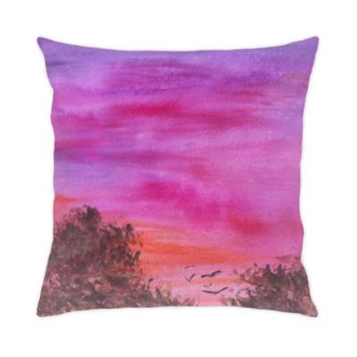 Подушка вечернее небо