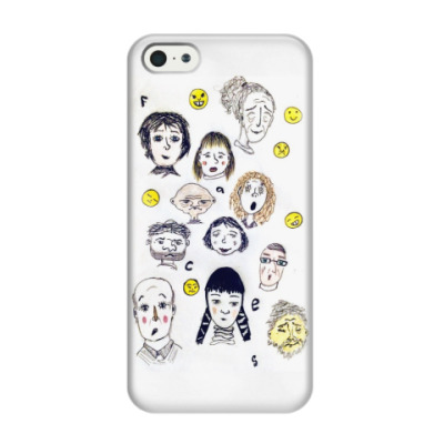 Чехол для iPhone 5/5s Faces