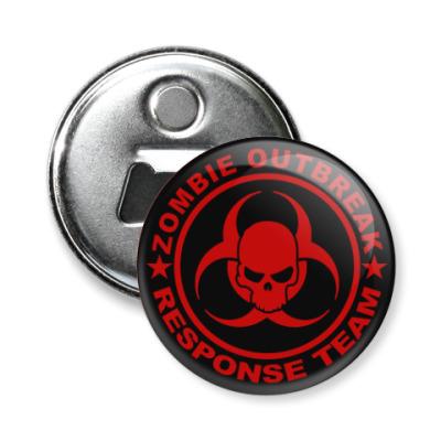 Магнит-открывашка Zombie outbreak response team