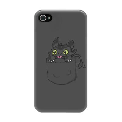 Чехол для iPhone 4/4s Ночная Фурия в кармане