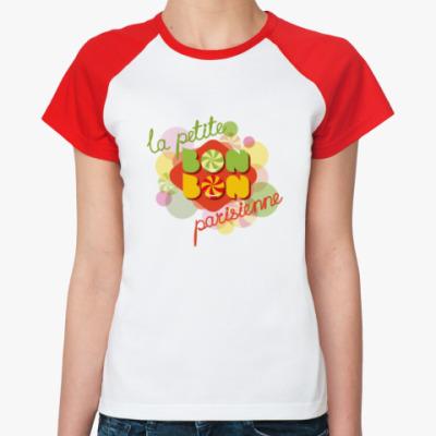 Женская футболка реглан Парижская конфетка