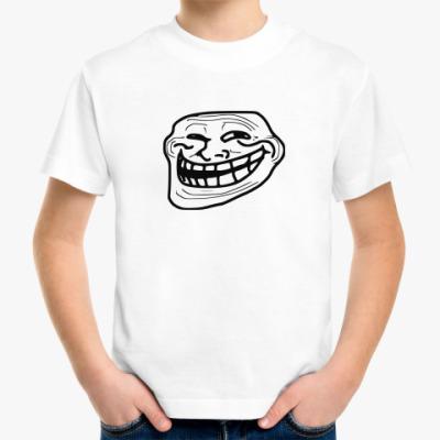 Детская футболка Троллфейс