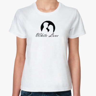 Классическая футболка White Love