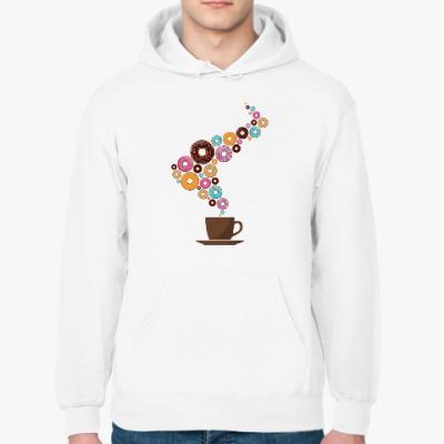 Толстовка худи Кофе с пончиками
