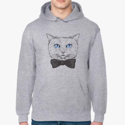 Толстовка худи Hipster Cat