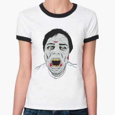 Женская футболка Ringer-T Зомби