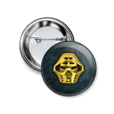 Значок 37мм Золотая маска Онуа