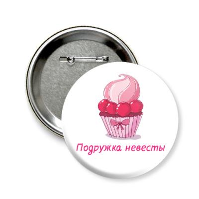 Значок 58мм Для девичника (Cupcakes party)