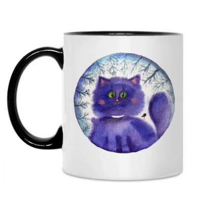 Кружка Акварельная иллюстрация,арт,  кот