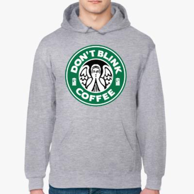 Толстовка худи Don't blink coffee DOCTOR WHO