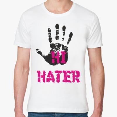 Футболка из органик-хлопка HI HATER / BYE HATER