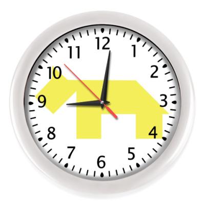 Настенные часы Cобака танграм