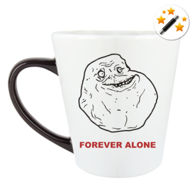 Кружка-хамелеон Forever alone