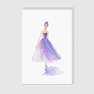 Холст Лиловая балерина
