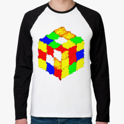 Футболка реглан с длинным рукавом Кубик Рубика