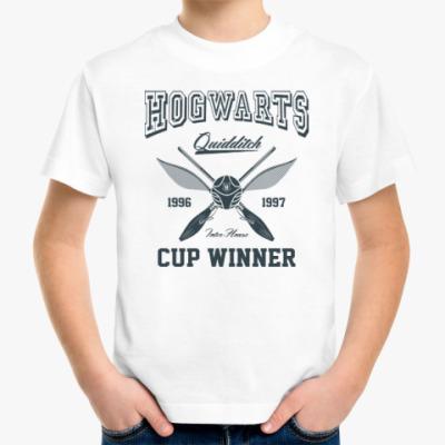 Детская футболка Hogwarts Quidditch Cup Winner