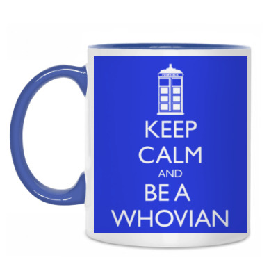 Кружка Keep calm and be a whovian