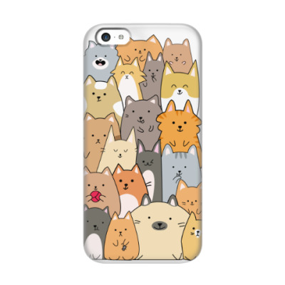 Чехол для iPhone 5c Смешные коты (funny cats)