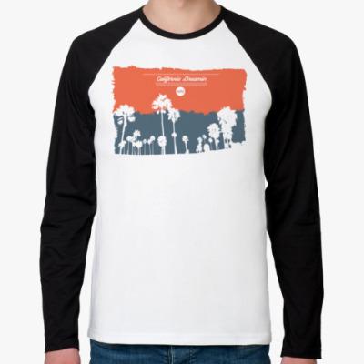 Футболка реглан с длинным рукавом Город в Калифорнии (USA)