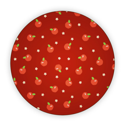 Костер (подставка под кружку) Яблочки