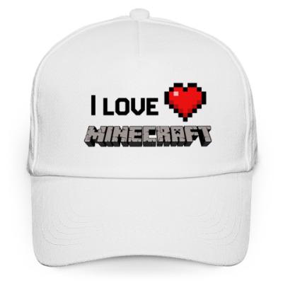 Кепка бейсболка I love minecraft