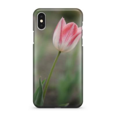 Чехол для iPhone X Апрельский тюльпан