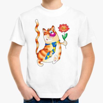 Детская футболка КОТ В ГАЛСТУКЕ