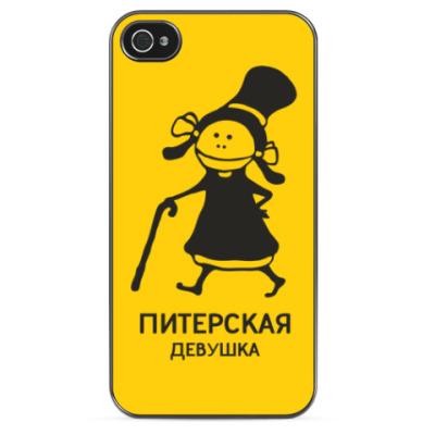 Чехол для iPhone 'Питерская девушка'