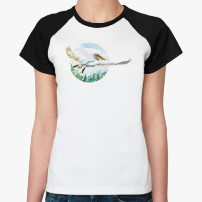 Женская футболка реглан 'Пеликан'