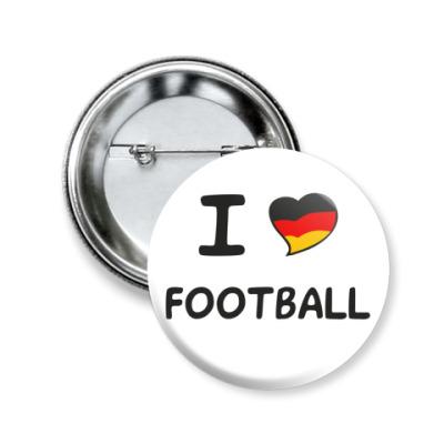 Значок 50мм Я люблю немецкий футбол