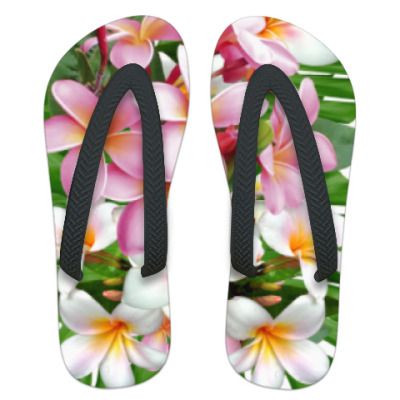 Шлепанцы (сланцы) Тропические цветы