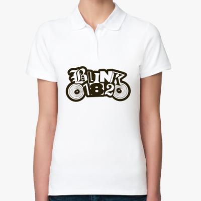 Женская рубашка поло  Blink 182!