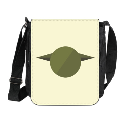 Сумка на плечо (мини-планшет) Магистр Йода (Yoda) минимализм