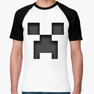 Футболка реглан Minecraft Creeper