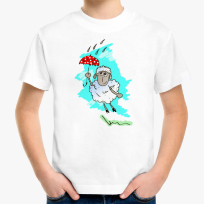 Детская футболка Овечка с зонтиком!
