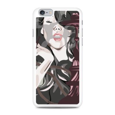 Чехол для iPhone Девушка с кальяном
