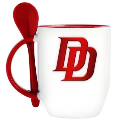 Кружка с ложкой Daredevil