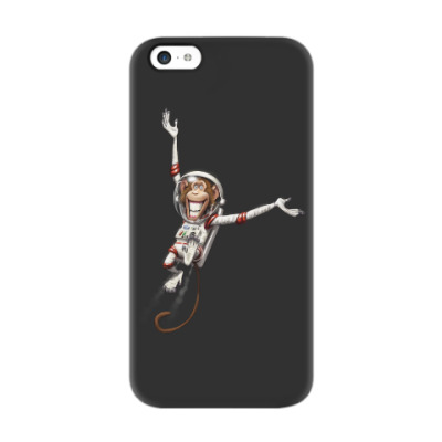 Чехол для iPhone 5c Обезьянка Космонавт