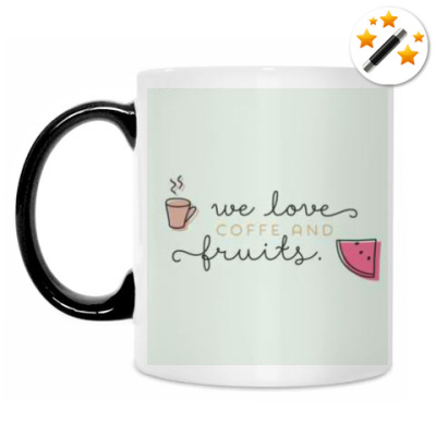 Кружка-хамелеон We love coffee..