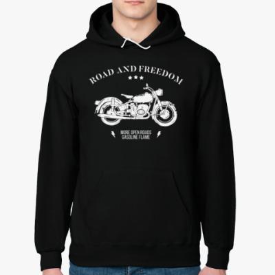 Толстовка худи Король дорог (мотоцикл)