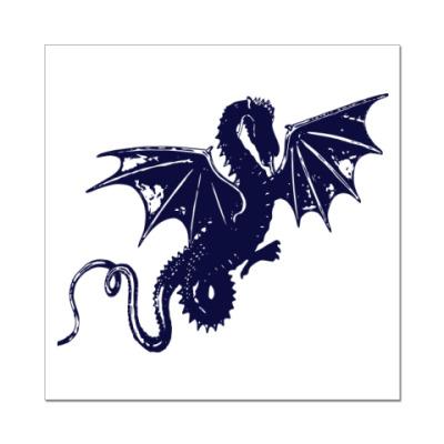 Наклейка (стикер) дракон