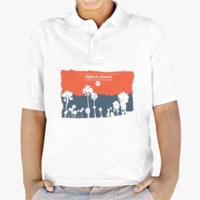 Детская рубашка поло Город в Калифрнии (USA)