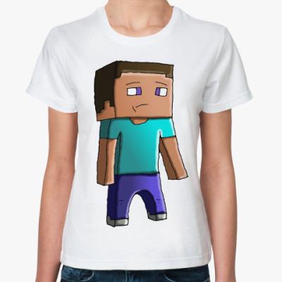 Классическая футболка Minecraft Steve