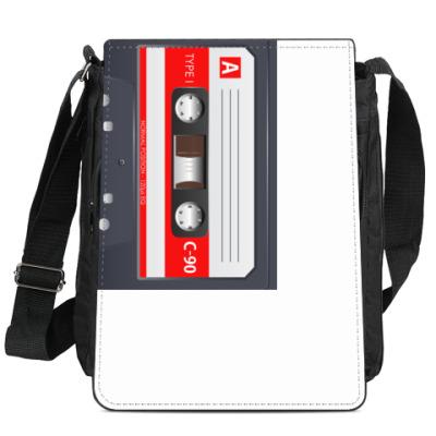 Сумка-планшет Винтажная аудиокассета